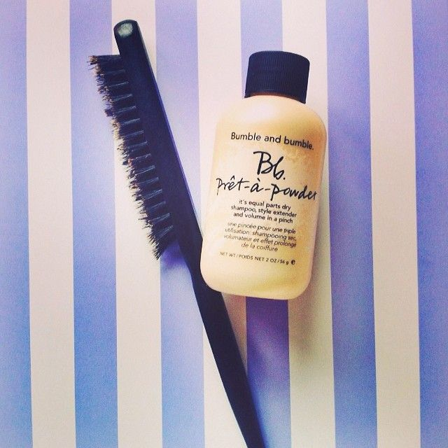 Two things our Chief Editor can't live without: @SleepinRollers Ireland Ireland Backcombing Brush with Bumble and Bumble Pret-a-Powder. What's your perfect pairing?