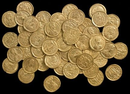 Roman gold solidi found near St. Albans, picture courtesy of the St. Albans City and District Council
