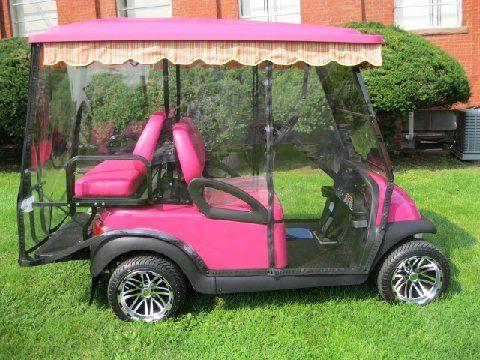 pink custom golf carts  | pink3342