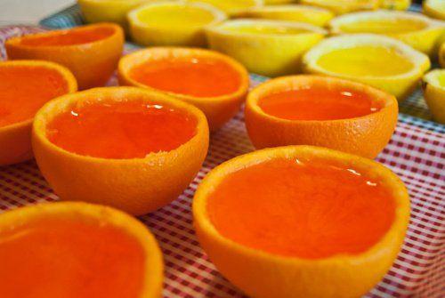 naranjas con gelatina