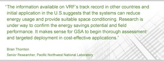 Research from GSA's Green Proving Ground - Variable Refrigerant Flow