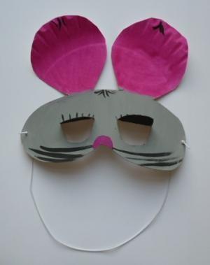 bastelsachen basteln maske maus pappteller kreativ. Black Bedroom Furniture Sets. Home Design Ideas