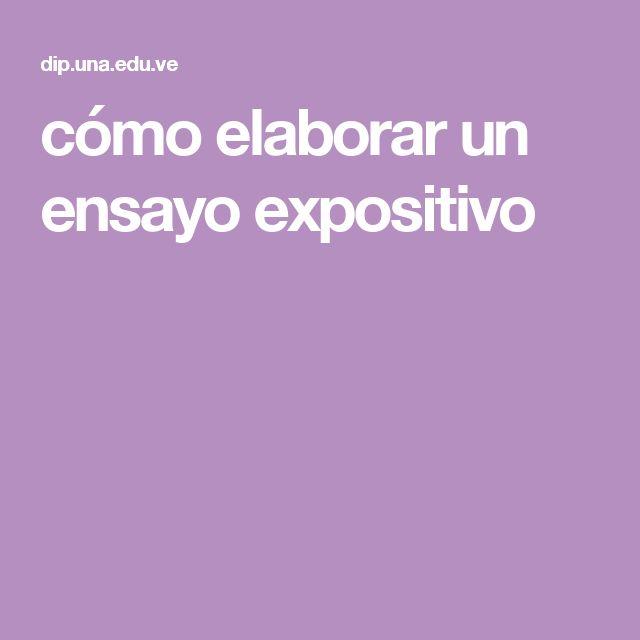 cómo elaborar un ensayo expositivo Universidad Nacional Abierta Venezuela