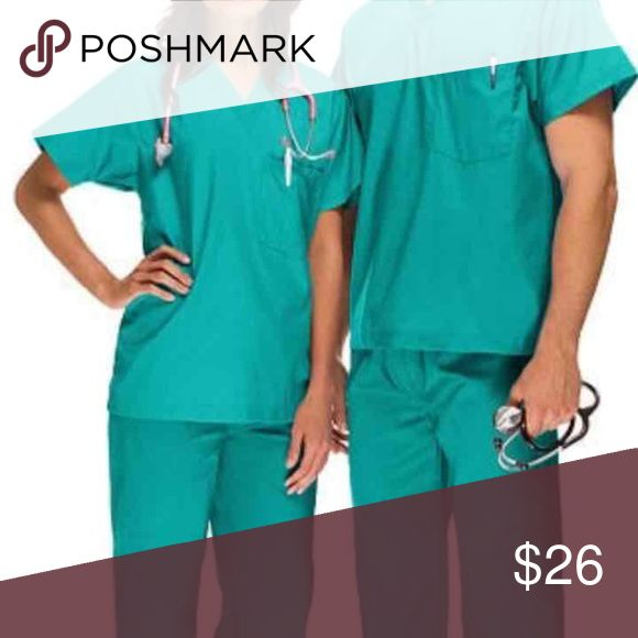 Teal Unisex Scrubs Worn once. Cheaper & free ship on Ⓜ️ TAGS: scrubs nursing work doctor dentist nurse hospital dental uniform Other