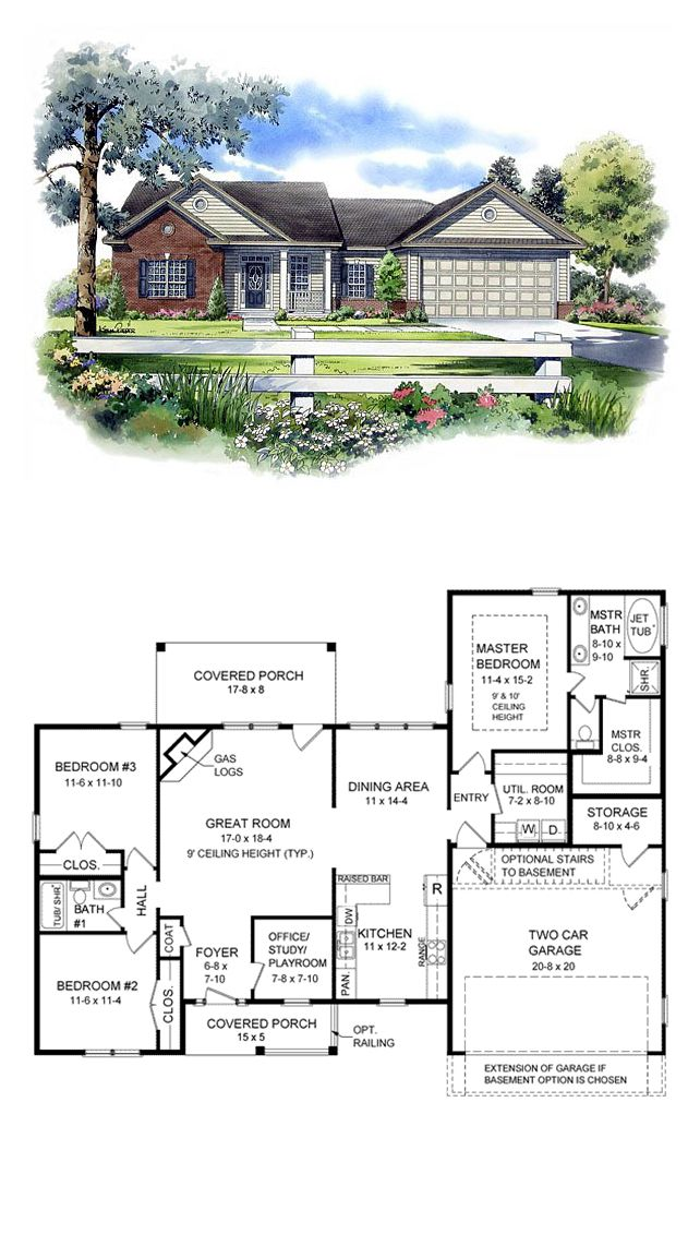 Ranch house plans with lots of windows for House plans with lots of windows