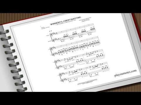 Wonderful Christmastime - Paul McCartney - Sheet music and guitar tablatures | playournotes.com