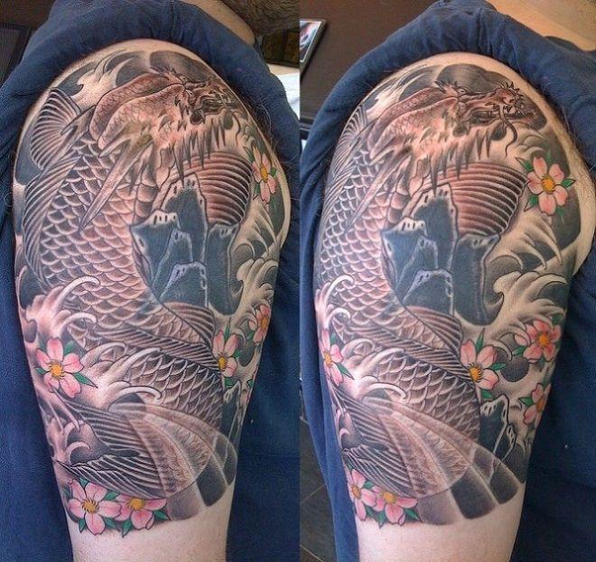 Best 25+ Koi Dragon Tattoo Ideas On Pinterest