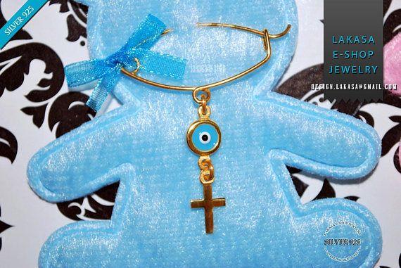 BEST Price Cross Enamel Eye Baby Brooch Sterling Silver Handmade Kids Jewelry Mother Happy Shower Day Religious Baptism Newborn It is a Boy #baby #boy #enamel #brooch #silver #jewelry #cross #motherday #personalised #joyas #mujer #woman #moda #jewellery #γυναικα #μωρο #νεογεννητο #δωρο #παραμανα #καρφιτσα #αγορι #σταυρος #smalto #plata #nino