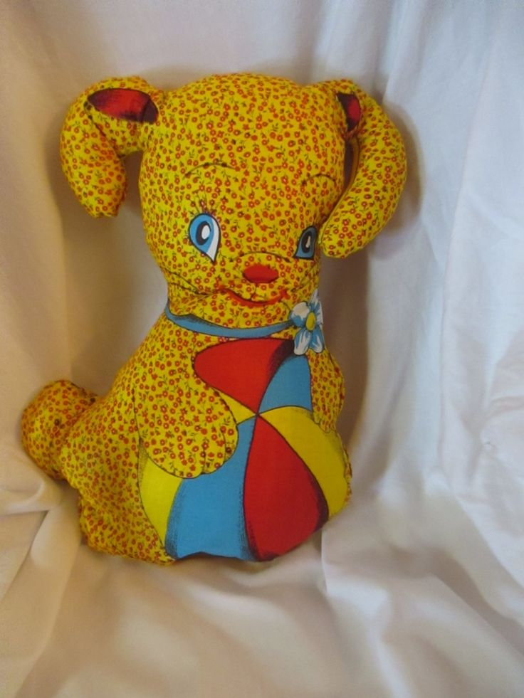 Adorable, Rare, Vintage Stuffed Puppy Doll/Pillow from the 1950's-1960's. Mint Condition! by BluberryHillBoutique on Etsy