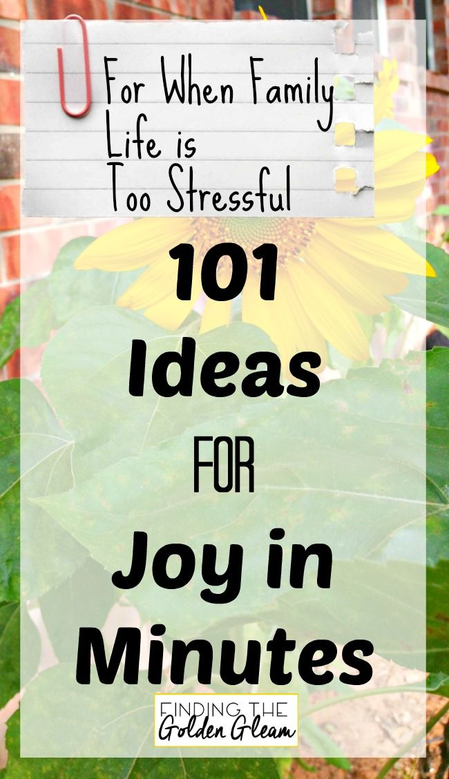 Simple and Mostly Free Ideas to Bring Joy into Your Home During Stressful Times
