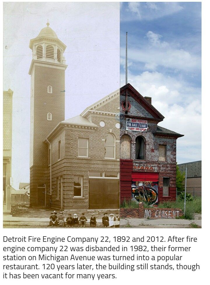 Detroit before and after