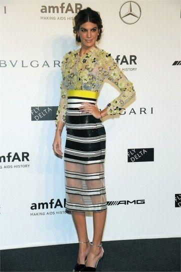 Bianca Brandolini D'Adda in dress multicolor