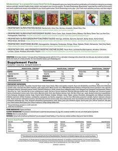 Vegan Shakeology Ingredients