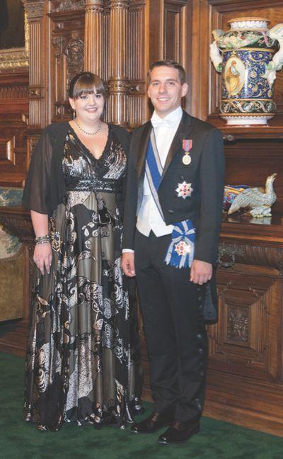 Nicolae Medforth-Mills (Principele Nicolae) cu sora lui, Elisabeta-Karina de România Medforth-Mills.