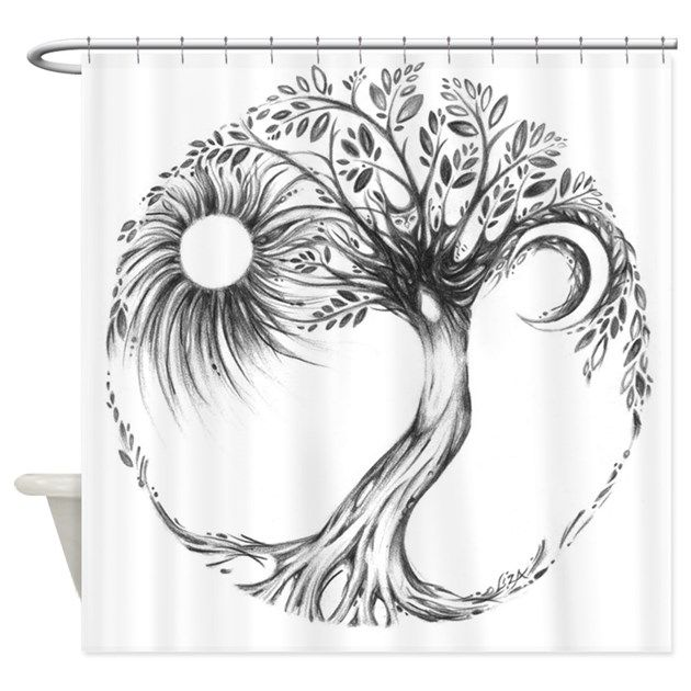 Tree Of Life Shower Curtain By Lizapaizisart Lower Back Tattoos