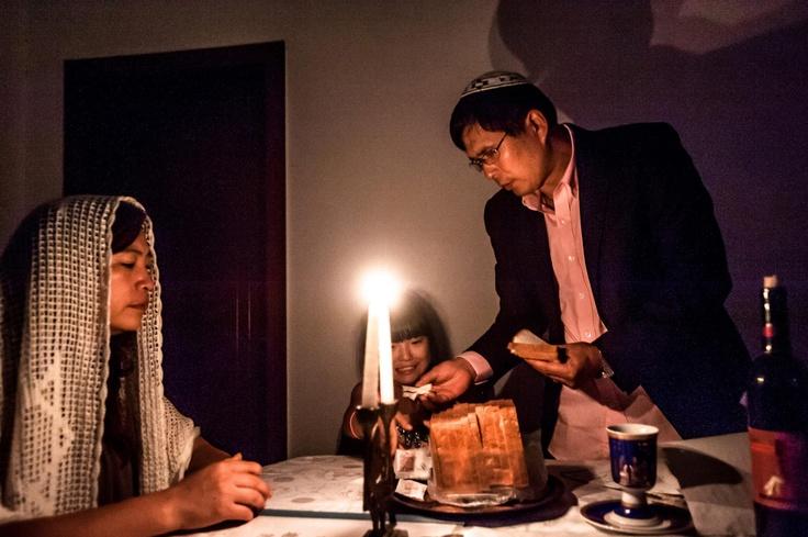 Jason Jia #LCC MA Photojournalism 2012, Fully #Jewish , Fully #Chinese #dinner #candle