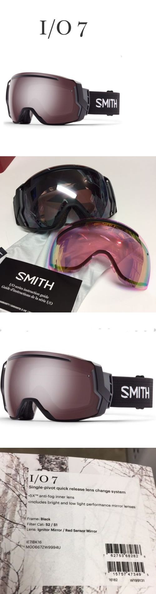 Goggles and Sunglasses 21230: Smith I O 7 Ignitor Mirror Red Sensor Mirror Snowboarding Goggles Brand New -> BUY IT NOW ONLY: $139.95 on eBay!