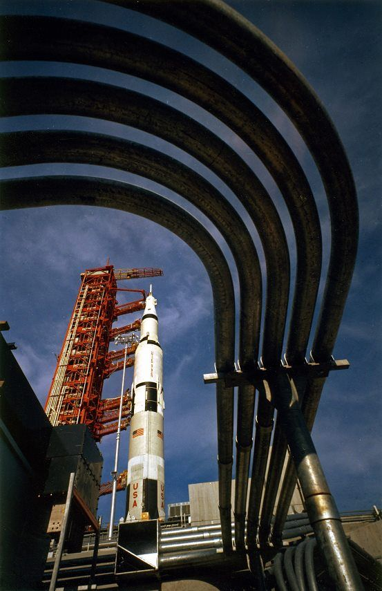 KSC Image of the Day - Apollo 4 (first flight ready Saturn V) at Pad 39A on August 26, 1967. www.retrospaceimages.com