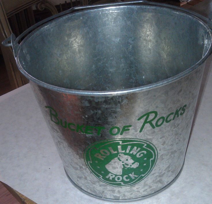 Bucket of Rocks Rolling Rock Beer Ice Bucket metal Collectible New  Click on my ice bucket picture to Buy it Now! Thanks!