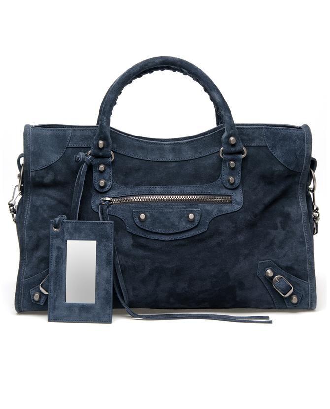 'Classic City' Suede Bag by BALENCIAGA at Browns Fashion
