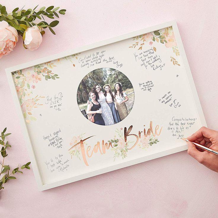 Team Bride Bilderrahmen | Gästebuch | Bachelorette party