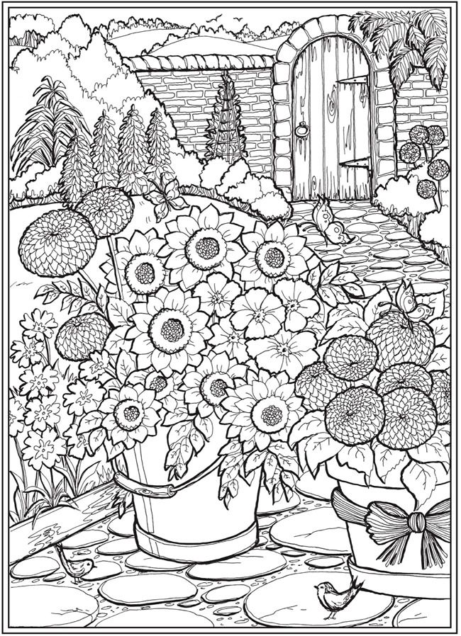 Welcome To Dover Publications - CH Country Gardens In 2020 Garden Coloring  Pages, Coloring Pages, Free Coloring Pages