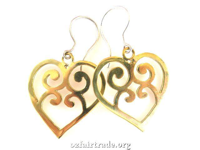 Oz Fair Trade - Love heart bombshell earrings, $44.95 (http://www.ozfairtrade.org/gift-finder/love-heart-bombshell-earrings/)