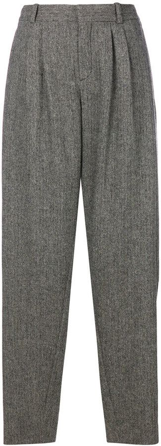 Chloé ovoid tapered trousers