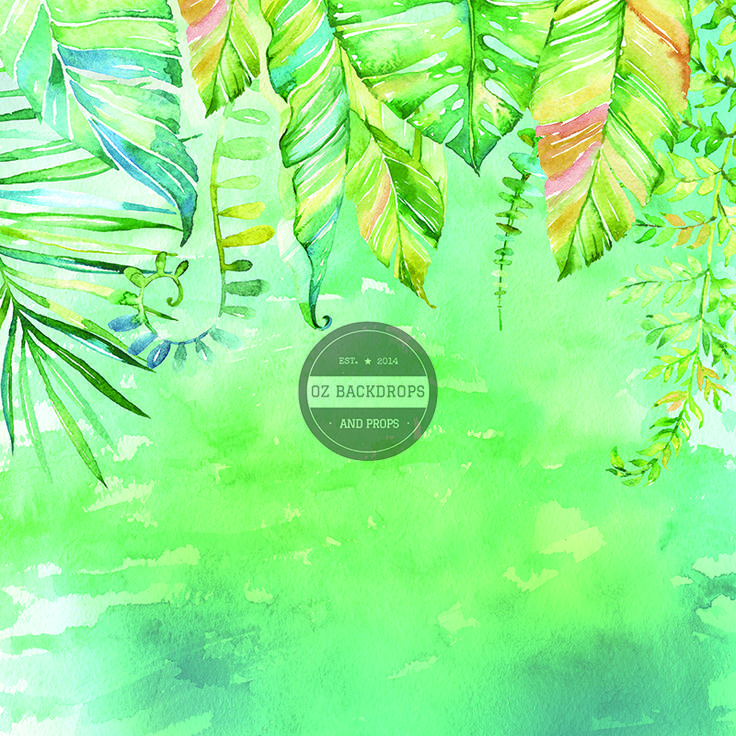 Tropical Watercolour - Oz Backdrops and Props