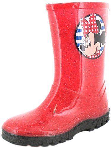 New Girls/Kinder Rot Minnie Mouse Gummistiefel Mit Schwarz Sohle - rot - UK GRÖßEN 6-12 - http://on-line-kaufen.de/disney/new-girls-kinder-rot-minnie-mouse-gummistiefel-uk