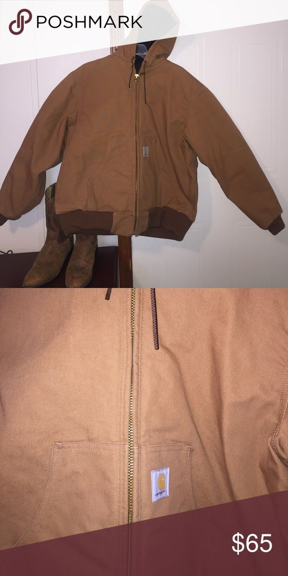 Carhartt Winter Coat 🔥 Guc! Reposhed, it was too small for my husband! Size Large! Just trying to get my money back so I can purchase a bigger size! Shell: 100% Cotton, Body Lining: 100% Polyester, Sleeve Lining: 100% Nylon, and Interlining: 100% Polyester. Carhartt is known to be one of the warmest winter coats made! Carhartt Jackets & Coats