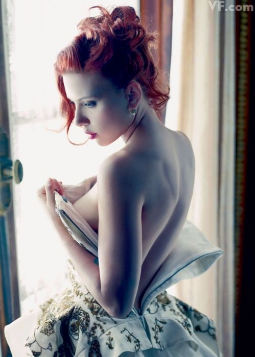 Scarlett Johansson, photographed by Mario Sorrenti. Styled by Jessica Diehl.