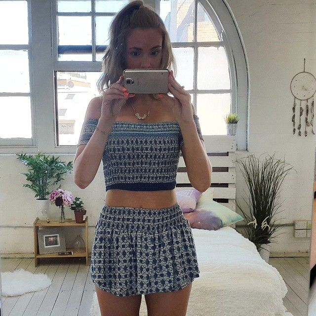 Whip It Off two piece set in blue print | SHOWPO Fashion Online Shopping