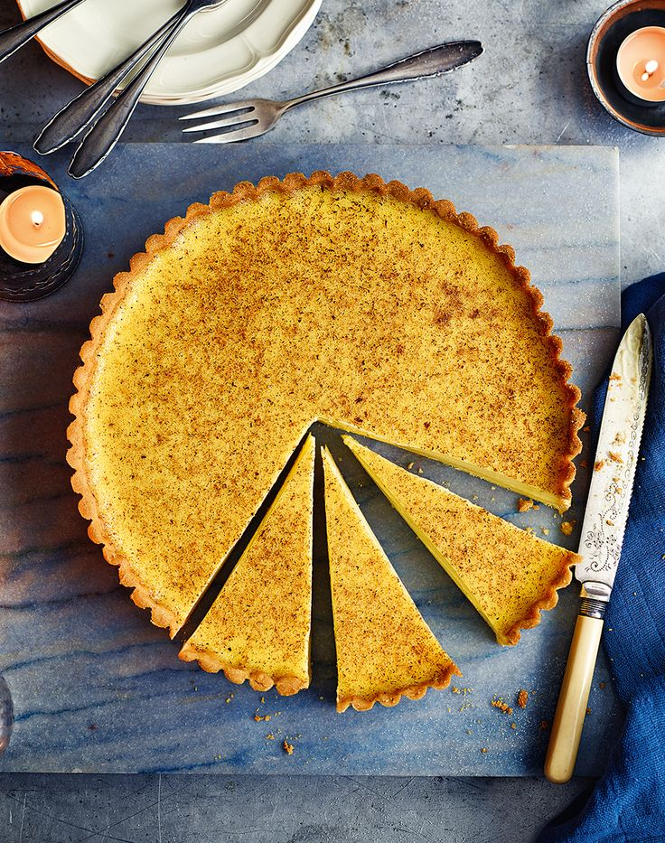 This classic custard tart is based on Marcus Wareing's famous recipe. The texture is the perfect balance of wobbly and creamy, and the taste isn't too sweet.