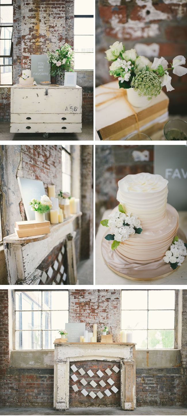 I've always had a thing about warehouses, and a beautiful rustic wedding reception in an industrial warehouse would be amazing!