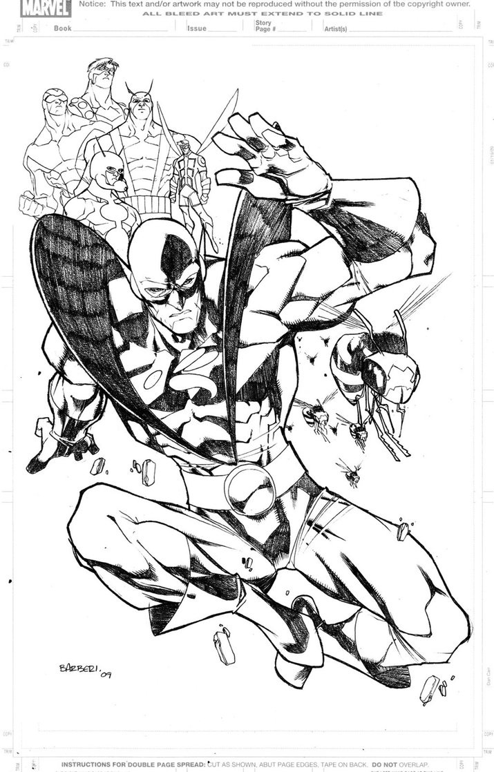 Ant Man Yellow Jacket Marvel Coloring Pages And Coloring Pages