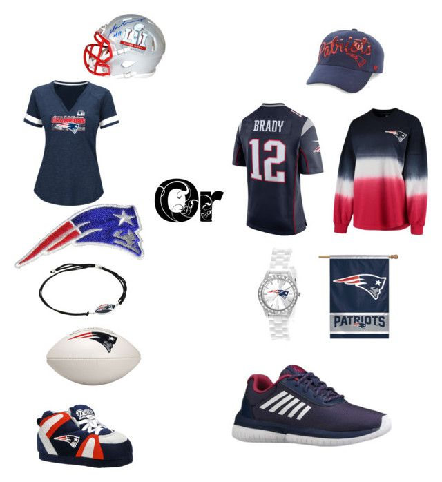 """""""Going out or staying in   GO PATS"""" by rachaalfaracha ❤ liked on Polyvore featuring beauty, Steiner Sports, Fanatics, Alex and Ani, Game Time, Happy Feet, NIKE, '47 Brand and K-Swiss"""