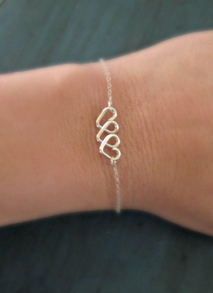 Infinite Love Heart Infinity Bracelet Sterling Silver Friendship Bracelet Bridesmaid Jewelry Best Friends Gift Sisters Bracelet. $23.00, via Etsy.
