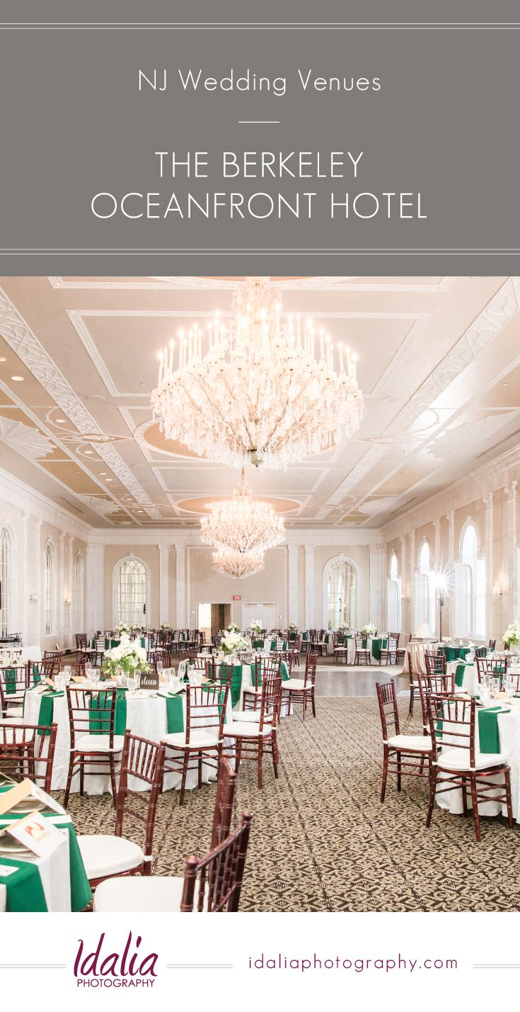 Venue Spotlight on the Berkeley Oceanfront Hotel, an Asbury Park NJ Wedding Venue located on the Jersey Shore in Central NJ.