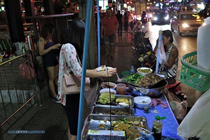 Street food Nana Soi 4 near Hooters and Nana Plaza. Bangkok.