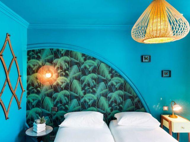 Chambre Peinture Turquoise villa bougainville nice
