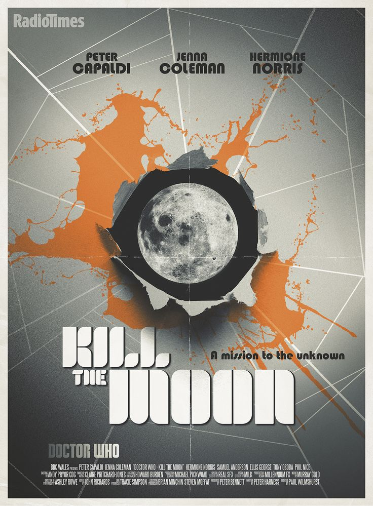 Doctor Who series 8 episode 7: Kill the Moon -  exclusive poster by Stuart Manning