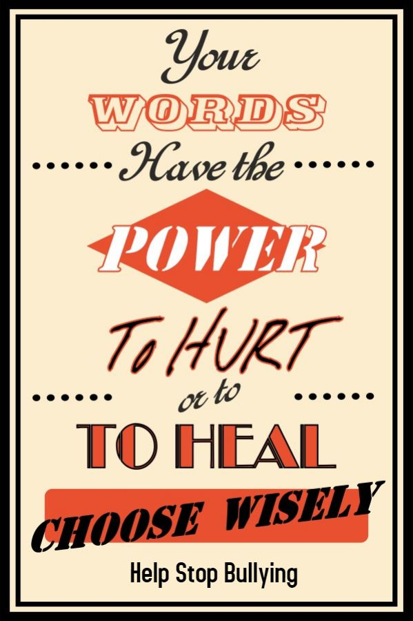 Vintage Anti Bullying Poster Or Flyer Template Contra El
