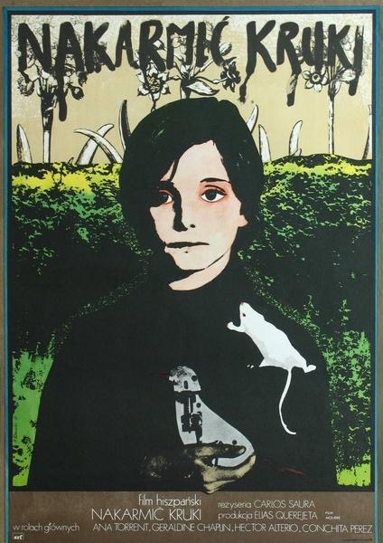 """MP714. """"Cría Cuervos"""" Polish Movie Poster by Andrzej Klimowski (Carlos Saura 1976) / #Movieposter"""