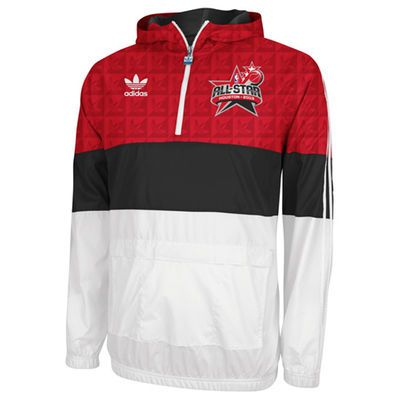 adidas NBA 2013 All-Star Game West A-Court Woven Pullover Jacket - Red/Black/White