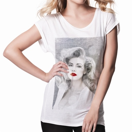 Marina and the Diamonds Ladies Portrait T-Shirt (White). Buy online, http://www.marinaandthediamonds.com/