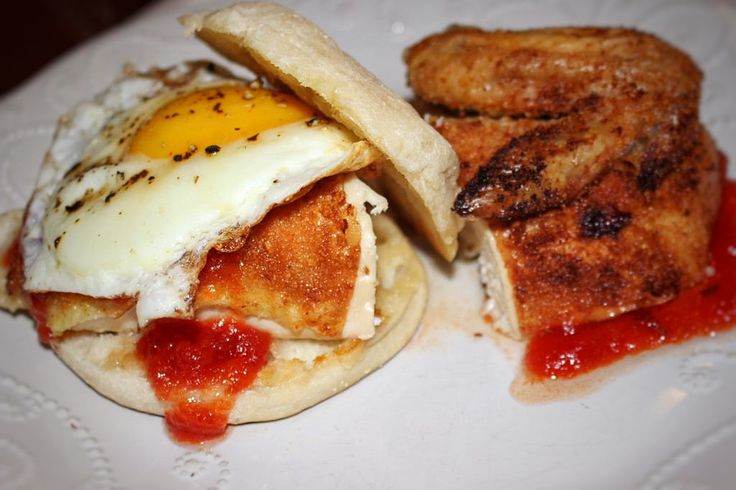 Crispy Baked Chicken With Smoked Jalapeno Tomato Jam and a Fried Egg!