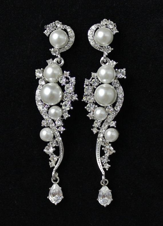 147 best wedding jewlery images on Pinterest   Wedding earrings ...