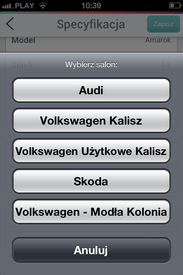 Aplikacja dla dealera wielobrandowego - wybór salonu.  #dealershipapps #mobileapps #aplikacjewebowe