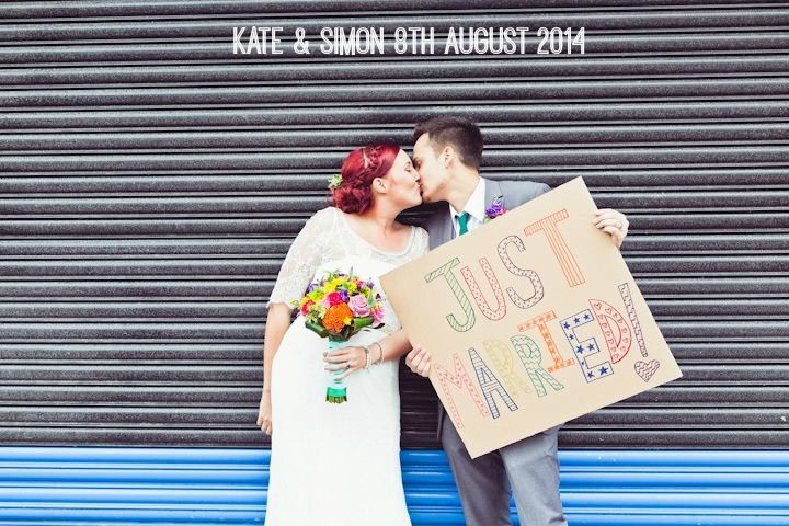 Kate and Simon's Bright and Colourful Horror Movie Themed Wedding. By Carly Bevan